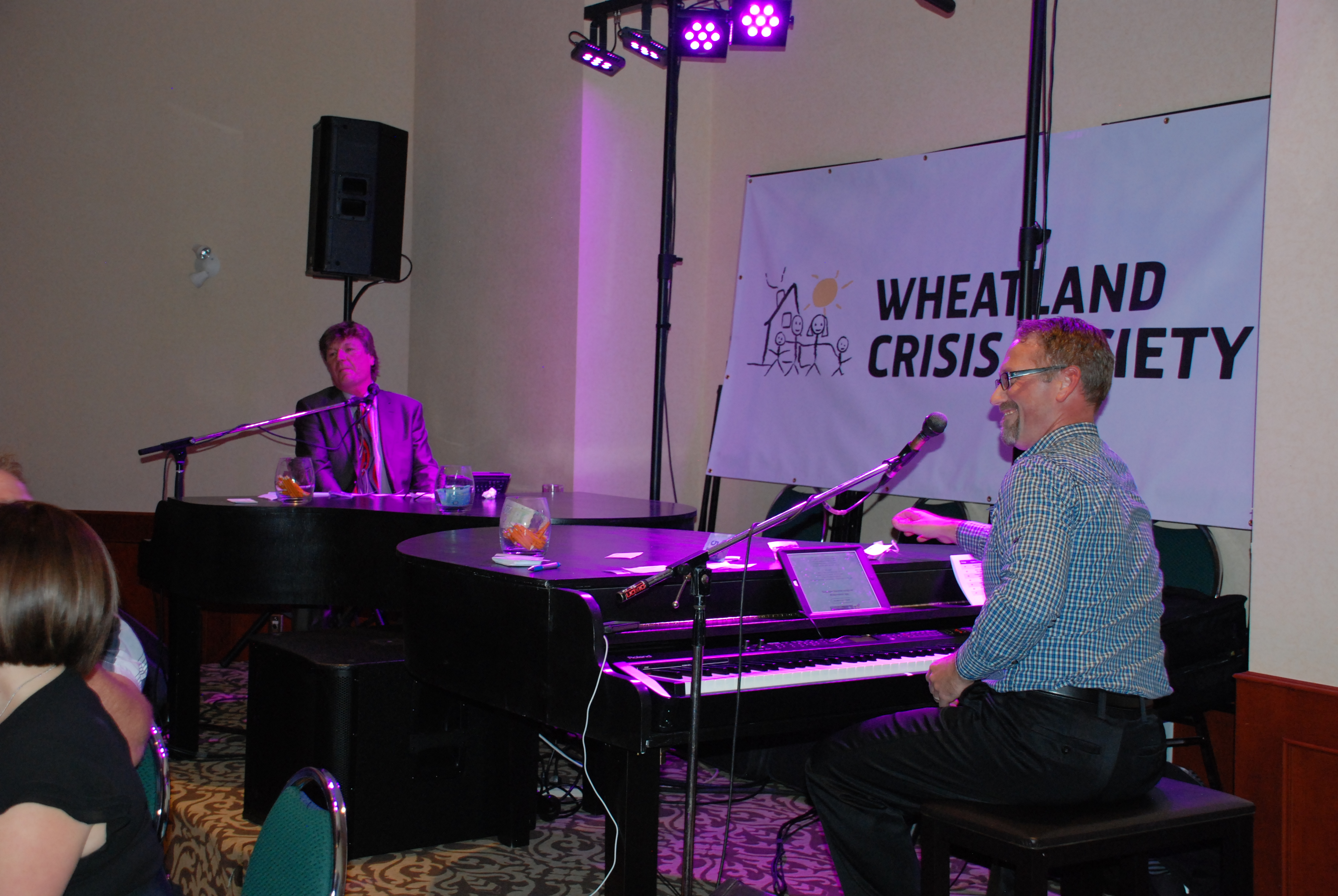 Calgary Dueling Pianos kept the crowd entertained (sponsored by Sobeys Strathmore)